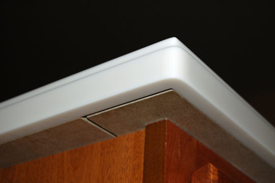 solid surface countertop underside